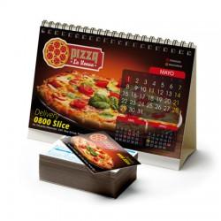 Calendarios de bolsillo sin costo adicional